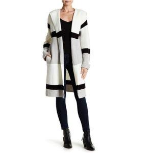 Just Madison Hooded Striped Cardigan Coat